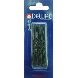 Шпильки 60 мм волна, черные (24 шт.) DEWAL SLT60V-1/24