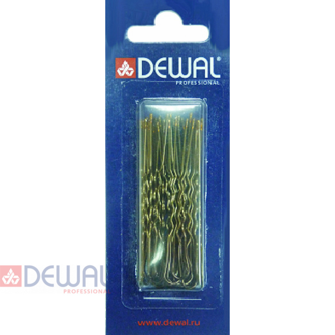 Шпильки 60 мм волна, коричневые (24 шт.) DEWAL SLT60V-3/24