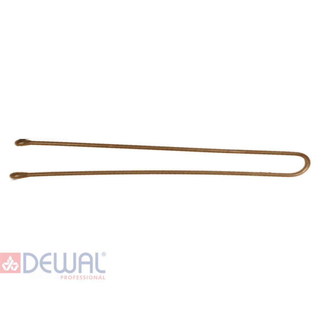 Шпильки 70 мм прямые, коричневые (60 шт.) DEWAL SLT70P-3/60