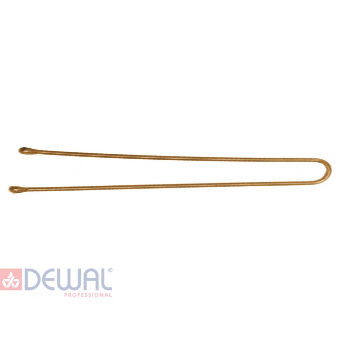 Шпильки 70 мм прямые, золотистые (60 шт.) DEWAL SLT70P-5/60