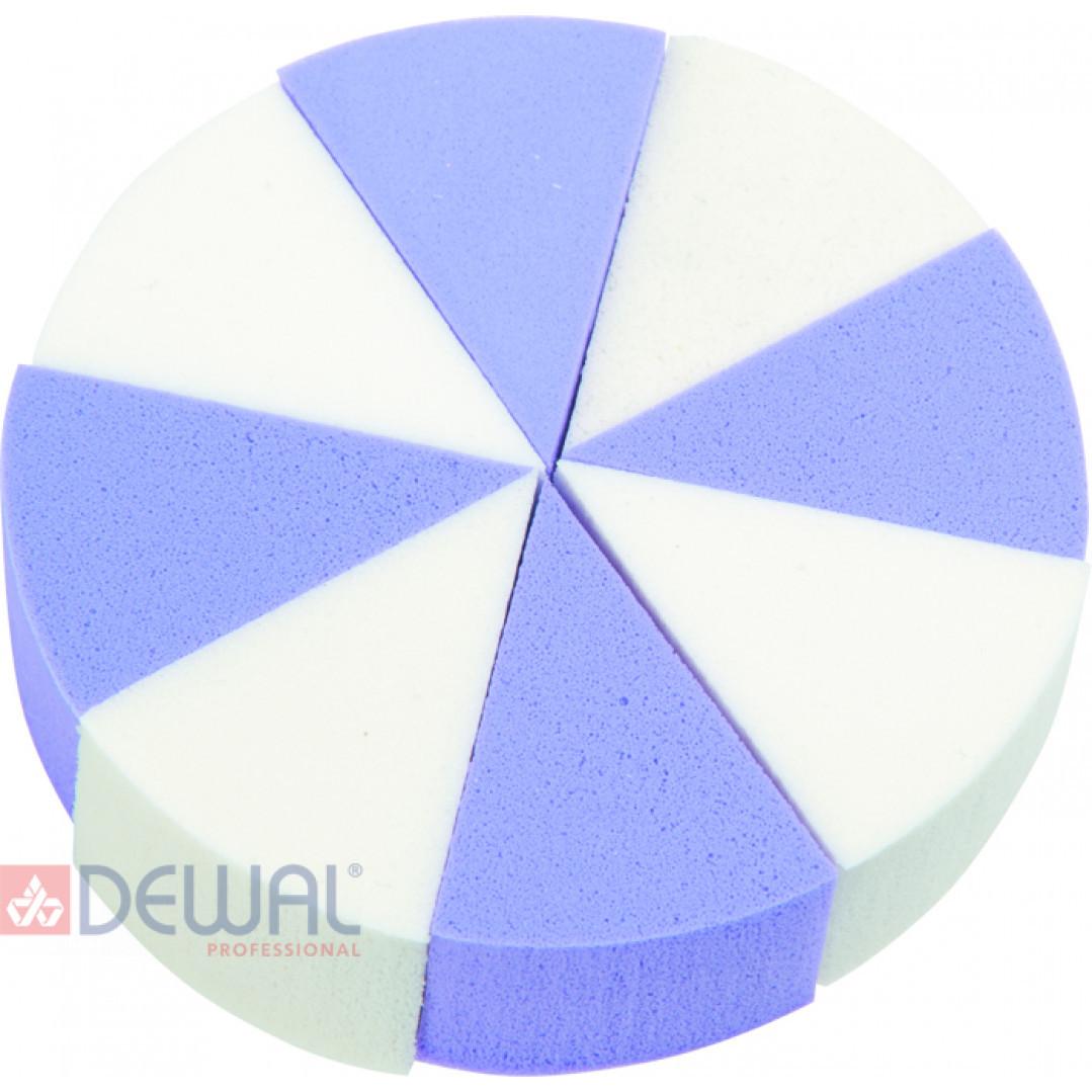 Губка макияжная цветная (8 шт) DEWAL BEAUTY SP-04