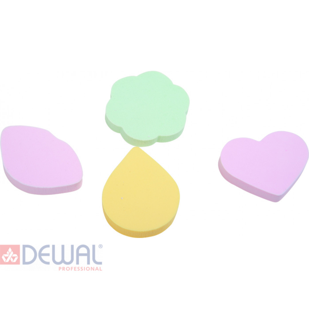 Губка макияжная цветная (4 шт) DEWAL BEAUTY SP-05
