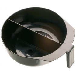 Чаша для окрашивания с ручкой и перегородкой 2 х 375 мл DEWAL T-1207
