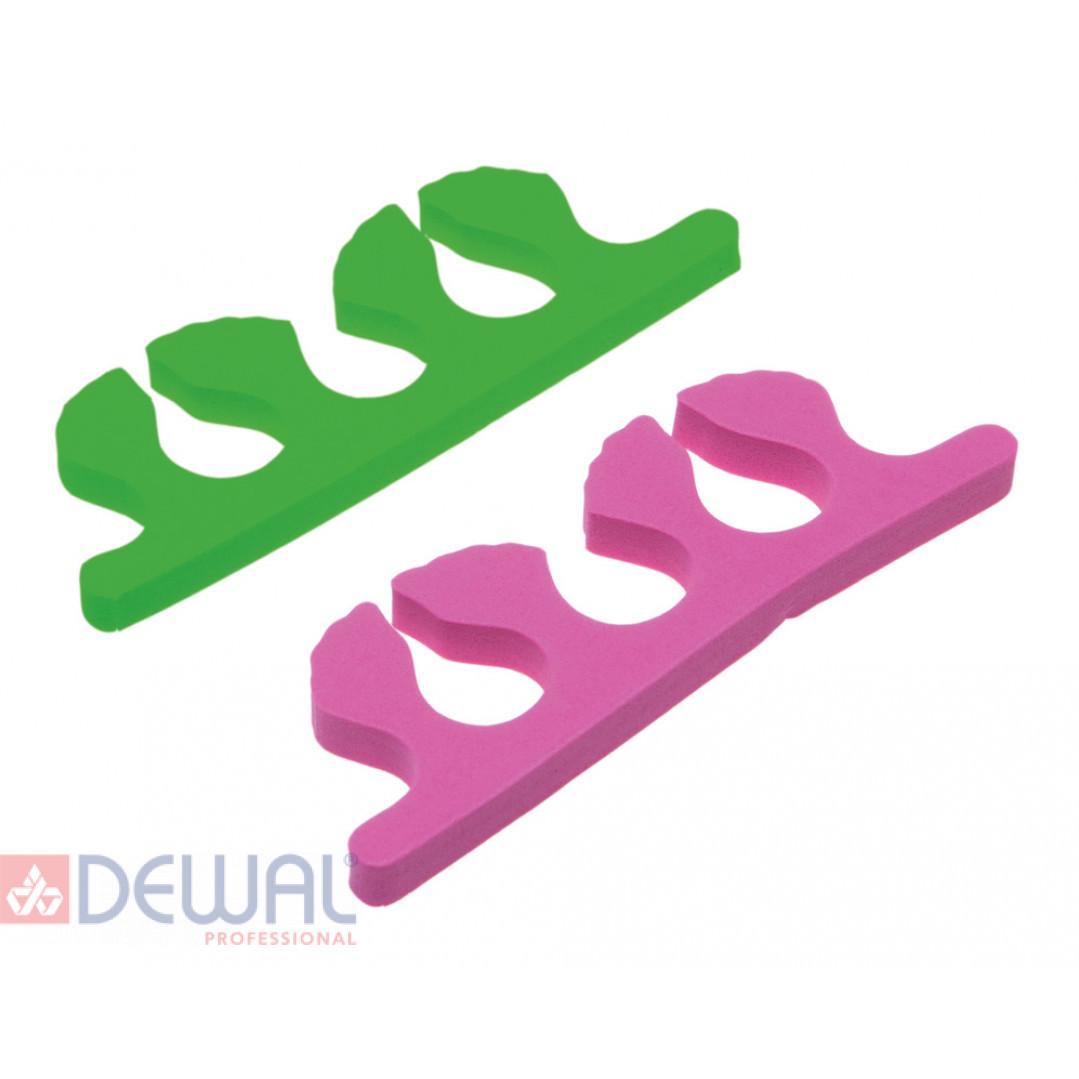 Разделители для пальцев, цвет: синий/розовый (8 шт/упак) DEWAL TS-29