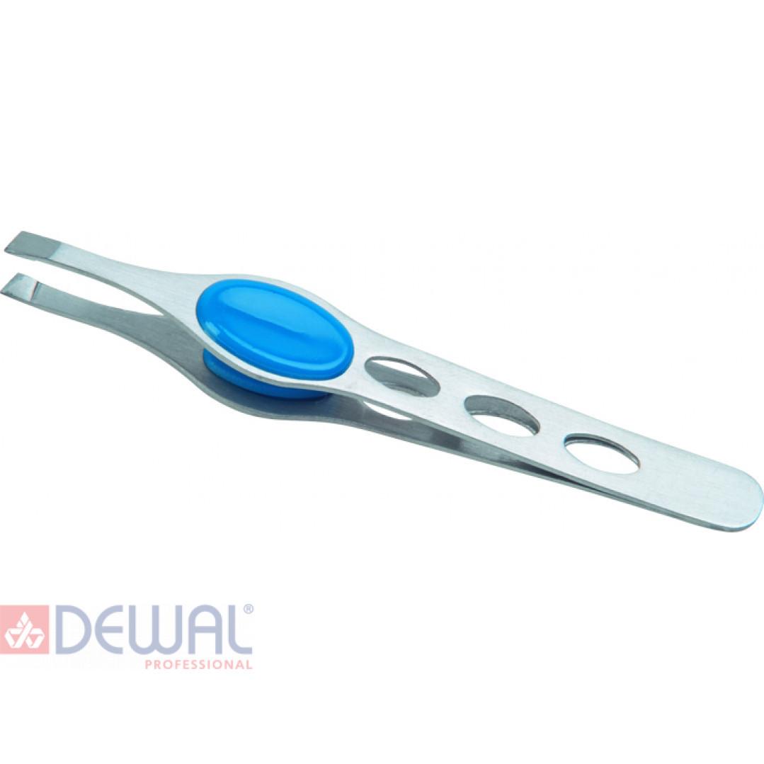 Пинцет косметический цветной, 10 см DEWAL BEAUTY TW-04